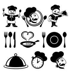 set of cook icons vector image