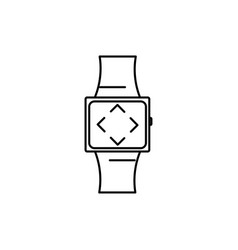 smartwatch with arrows icon vector image