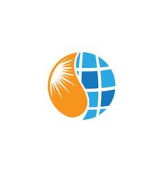 solar logo energy icon vector image