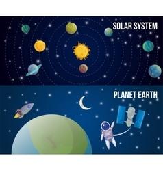 Space Universe Set vector image