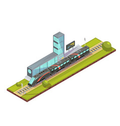 Suburban train terminal composition vector