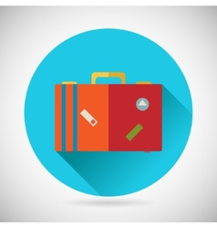 Summer Vacation Trip Symbol Traveler Suitcase Bag vector image