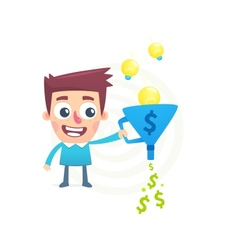 Talent to turn ideas into money vector