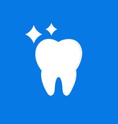 teeth icon flat logo template dentist log vector image