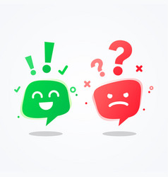 User experience speech bubble emoji vector