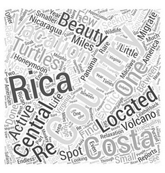 Vacationing in Costa Rica Word Cloud Concept vector