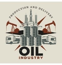 Vintage Extraction Oil Template vector
