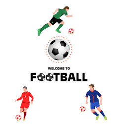 welcome to football on white vector image
