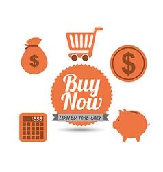 buy now design vector image