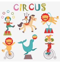 Colorful circus collection vector image