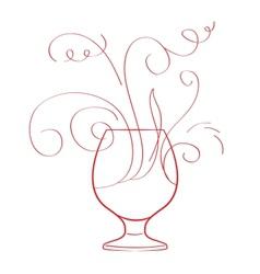 Red wine splash isolated vector image