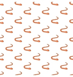 Worm pattern cartoon style vector image vector image