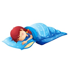 A sleeping child vector image