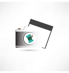 camera and photo card vector image