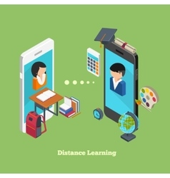 Distance online learning vector image vector image