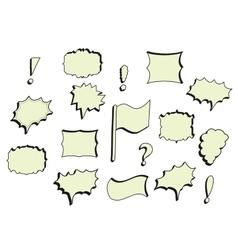 Hand-drawn Comics bubles frames vector image