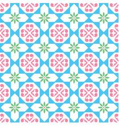 spanish tiles pattern seamless design vector image