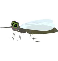 cartoon gray funny mosquito vector image