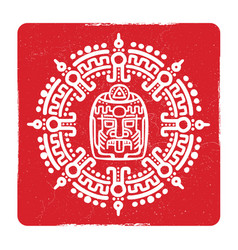 grunge american aztec mayan culture symbol design vector image vector image
