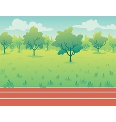 Park Landscape with running track Environment vector image vector image