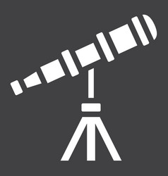 telescope solid icon astronomy and science vector image