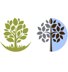 tree emblem 3 isolated on white vector image vector image