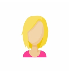 Avatar blonde woman icon cartoon style vector image