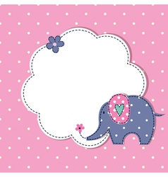 Baby background with cute elephant vector