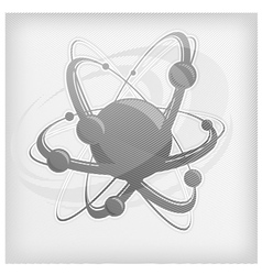 central nucleus surrounded by electrons vector image