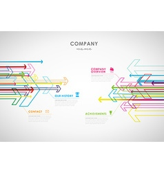 Company infographic overview design template with vector image vector image