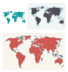 Dotted map design vector image