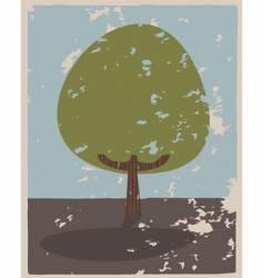 flat tree vector image vector image