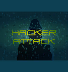 hacker attack technology background with dark vector image
