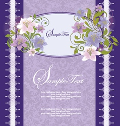 Purple Floral Frame vector image vector image