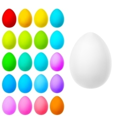 Set of realistic eggs on white EPS 10 vector image vector image