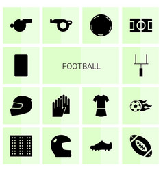 14 football icons vector image