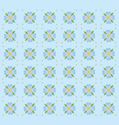 a pattern of blue flowers vector image