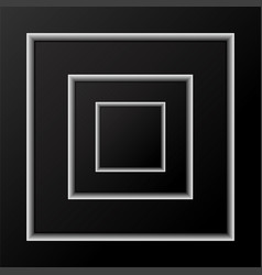 abstract background of black squares with shadow vector image