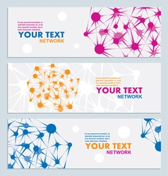 Abstract color network connection vector image