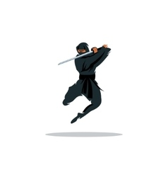 Asian ninja cartoon asia vector