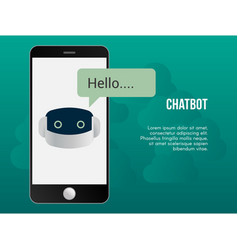 Automated chatbot concept design template vector