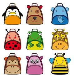 Backpacks for school children vector