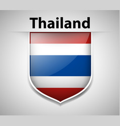 badge design for flag of thailand vector image