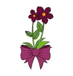 Beautiful ornamental flowers vector