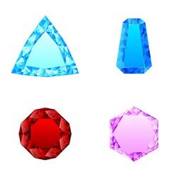 beautiful set of diamonds vector image