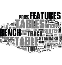 Bench top router table reviews text word cloud vector