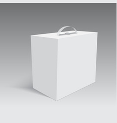 blank paper or cardboard box with handle vector image