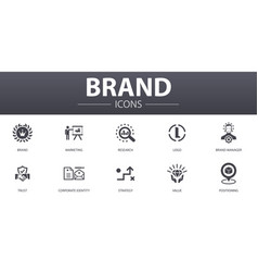 Brand simple concept icons set contains such vector