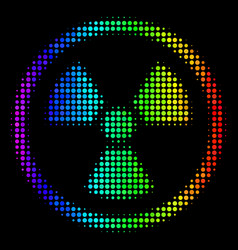 Bright pixel radioactive icon vector