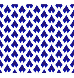 Ceramic thai pattern blue and white vector